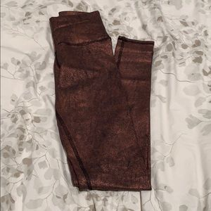 ALO YOGA copper metallic pants